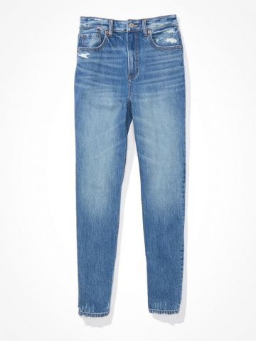 ג'ינס Mom עם קרעים / נשים של AMERICAN EAGLE