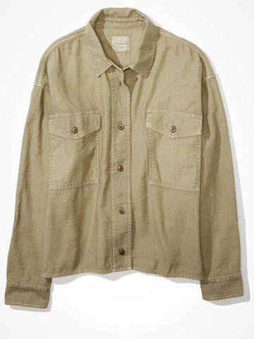 חולצה מכופתרת עם כיסים / נשים של AMERICAN EAGLE