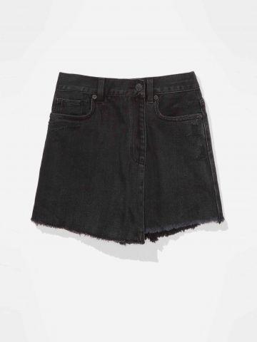 מכנסי חצאית ג'ינס mom / נשים של AMERICAN EAGLE