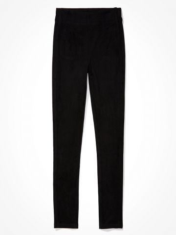 מכנסיים ארוכים דמוי זמש / נשים של AMERICAN EAGLE
