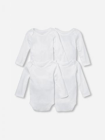 מארז 4 בגדי גוף חלקים / בייבי של THE CHILDREN'S PLACE