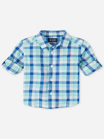 חולצת משבצות מכופתרת / 9M-4Y של THE CHILDREN'S PLACE