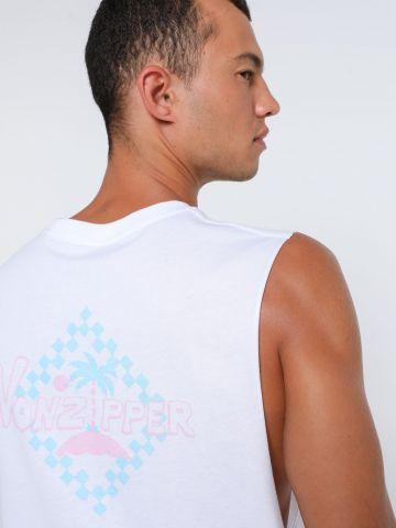 גופייה עם הדפס לוגו של VON ZIPPER