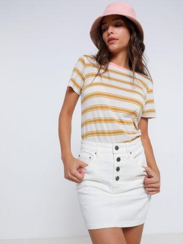 חצאית ג'ינס מיני עם כפתורים של BILLABONG