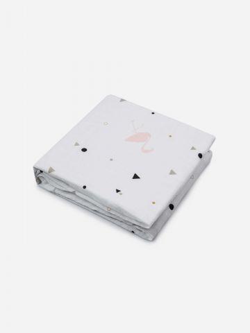 שמיכת במבוק 2 שכבות בהדפס פלמינגו / בייבי של NINO