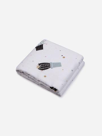שמיכת במבוק 4 שכבות בהדפס קקטוס / בייבי של NINO