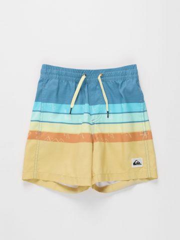 מכנסי בגד ים בהדפס פסים / בנים של QUIKSILVER