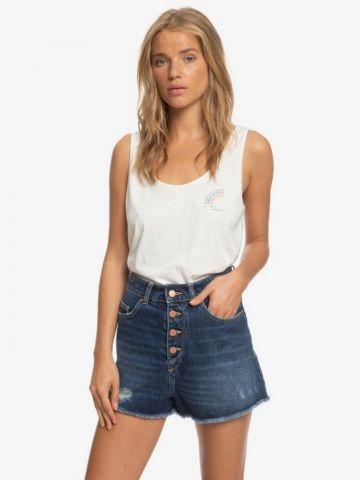 ג'ינס קצר בשטיפה כהה של ROXY