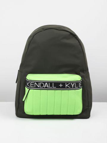 תיק גב ניאון דמוי עור עם לוגו / נשים של KENDALL + KYLIE