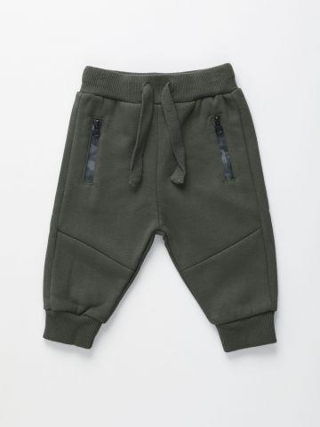מכנסי טרנינג עם רוכסנים קמופלאז' / 3M-3Y של FOX