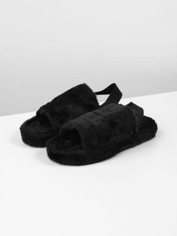 נעלי בית דמוי פרווה של TERMINAL X