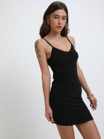 שמלת מיני עם ברזלים בחזה של TERMINAL X