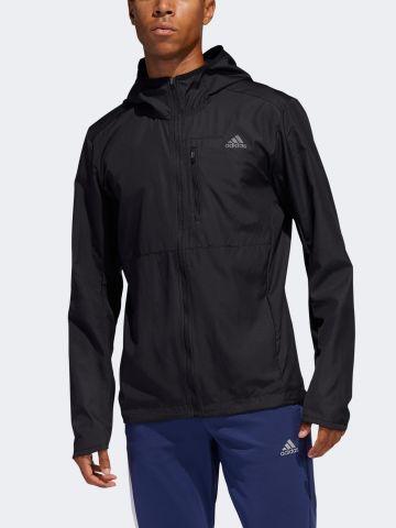 מעיל ריצה עם לוגו של ADIDAS Performance