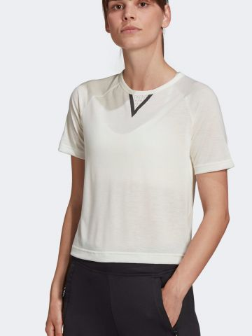 חולצת אימון קרופ עם הדפס adidas X Karlie Kloss של ADIDAS Performance