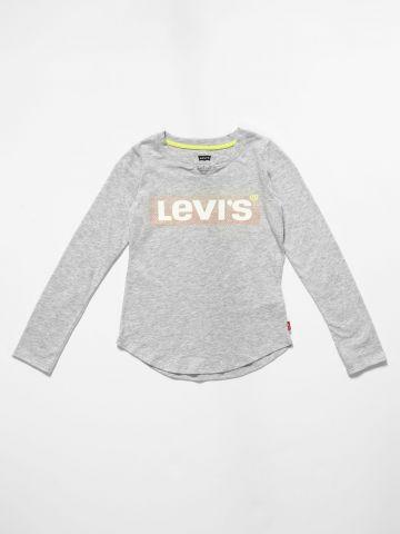 טי שירט עם לוגו / בנות של LEVIS