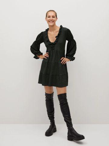 שמלת מיני קומות עם מלמלה של MANGO