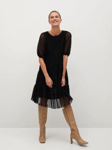 שמלת מיני קומות תחרה של MANGO