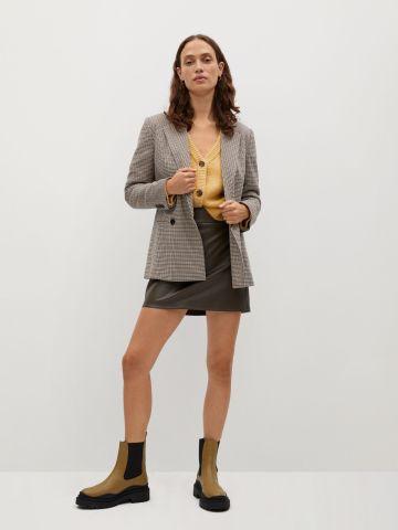חצאית מיני דמוי עור של MANGO