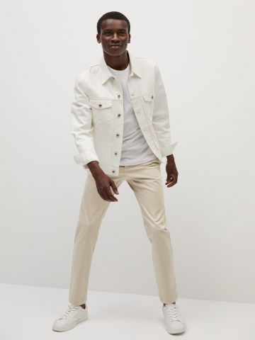 מכנסיים בגזרת סלים של MANGO