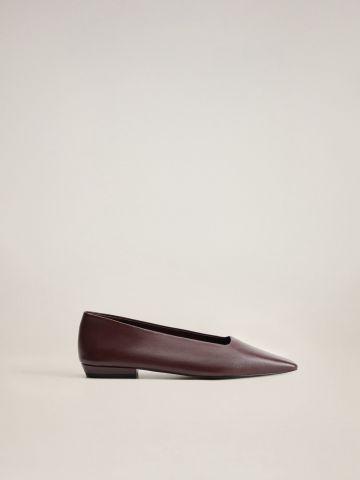 נעלי עור בובה מבריקות של MANGO