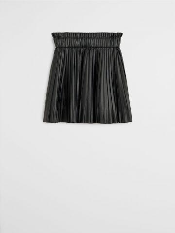 חצאית פליסה דמוי עור / בנות של MANGO