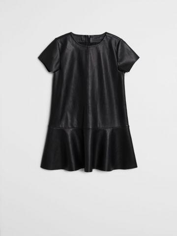 שמלת מיני דמוי עור / בנות של MANGO