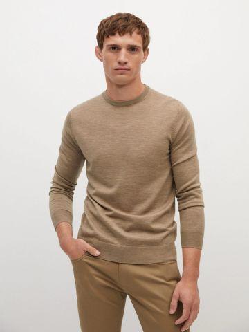 סוודר צמר חלק של MANGO