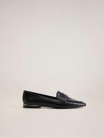 נעליים שטוחות דמוי עור נחש / נשים של MANGO