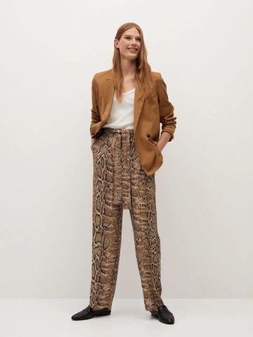 מכנסיים ארוכים בהדפס נחש של MANGO