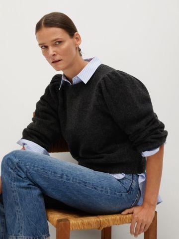 סוודר צמר ריב של MANGO