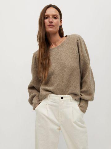 סוודר שרוולים נפוחים בשילוב צמר של MANGO