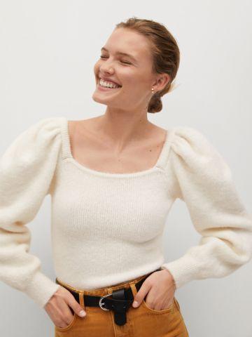 סוודר עם כתפיים נפוחות של MANGO