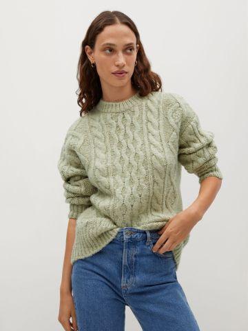 סוודר בטקסטורות משתנות של MANGO