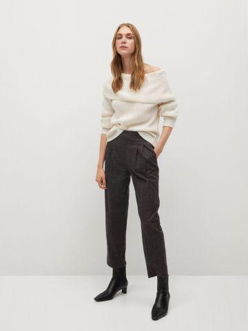 מכנסיים מחוייטים בהדפס משבצות של MANGO