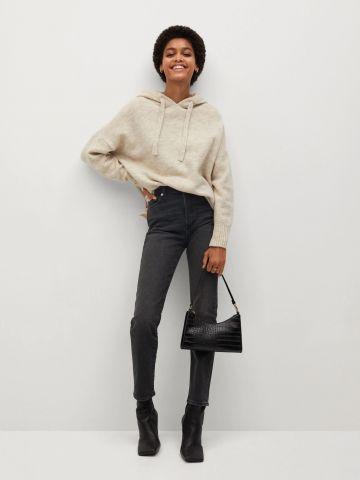ג'ינס בגזרה גבוהה וישרה של MANGO