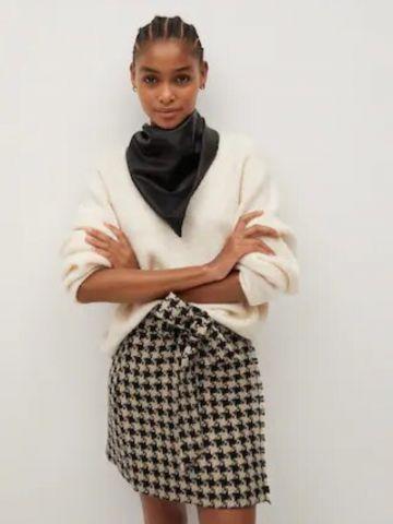חצאית מיני בדוגמת פפיטה של MANGO