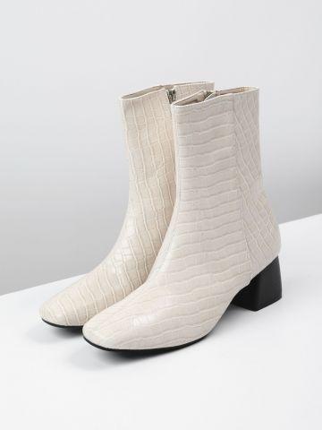 מגפיים דמוי עור קרוקודיל של TERMINAL X