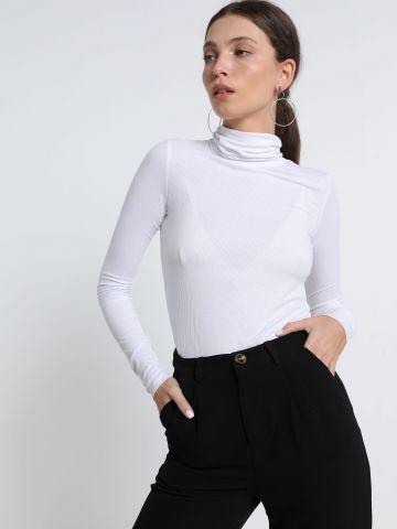חולצת ריב עם צווארון גולף של TERMINAL X