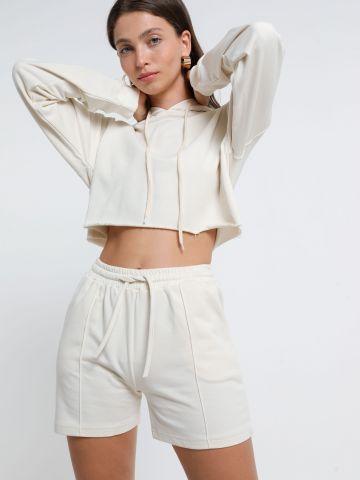 מכנסי טרנינג קצרים עם כיסים של TERMINAL X