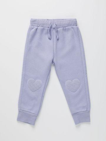 מכנסי טרנינג עם ברכיית לב / 0-3Y של FOX
