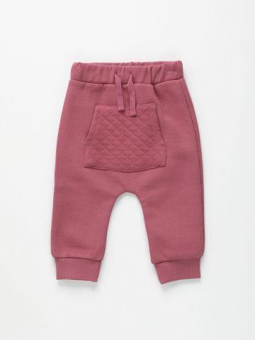 מכנסי טרנינג עם כיס קווילט / 0-3Y של FOX