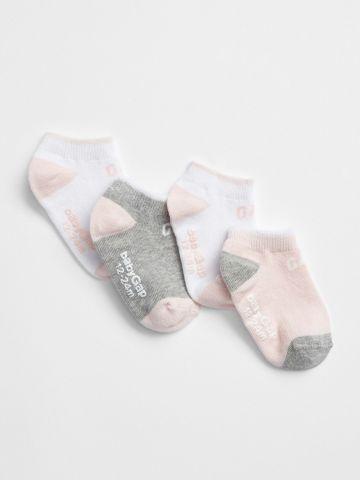 מארז 4 זוגות גרביים עם לוגו / בייבי בנות של GAP