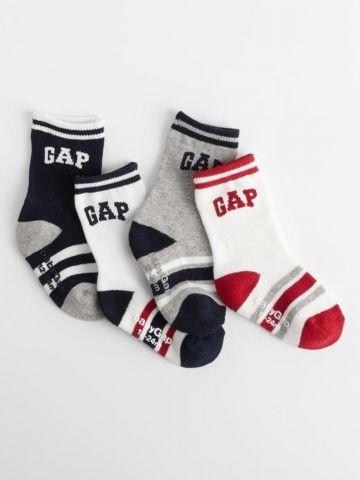 מארז 4 זוגות גרביים עם לוגו / 12M-4Y של GAP