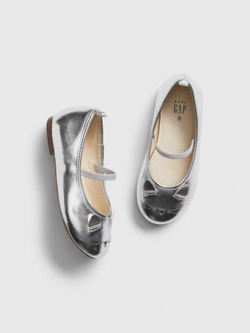 נעלי בובה בדוגמת חתול / בייבי בנות של GAP