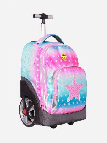 תיק על גלגלים בדוגמת כוכבים / בנות של KAL GAV