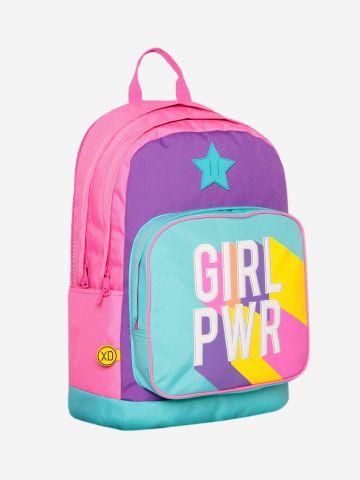 תיק גב קלאסי עם כיתוב Girl power / בנות של KAL GAV