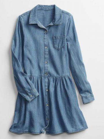 שמלת ג'ינס עם כפתורים / בנות של GAP