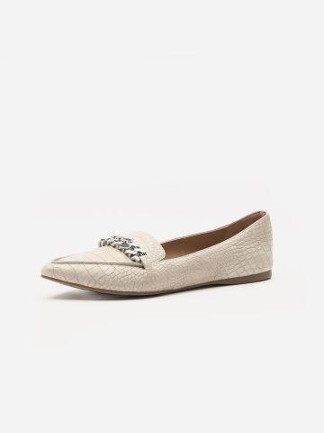 נעלי מוקסין דמוי עור קרוקודיל של STEVE MADDEN