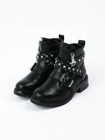 מגפיים דמוי עור עם ניטים / בנות של STEVE MADDEN