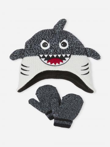 סט כפפות וכובע גרב כריש / בייבי בנים של THE CHILDREN'S PLACE